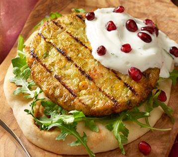 Grilled Mediterranean-Style Veggie Patty